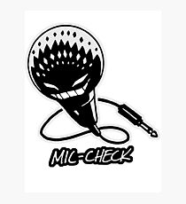 Mic-Check Photographic Print