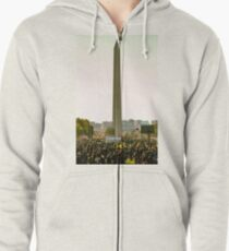 Washington Monument, Justice or Else Zipped Hoodie