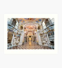 Inside the abbey library of Admont Art Print