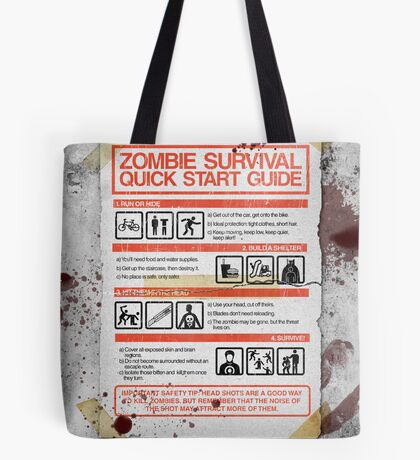 Zombie Survival - Quick Start Guide Tote Bag