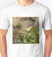 Burlywood Brown Abstract Low Polygon Background Unisex T-Shirt