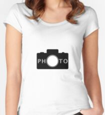 Photo camera Women's Fitted Scoop T-Shirt
