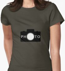 Photo camera Womens Fitted T-Shirt