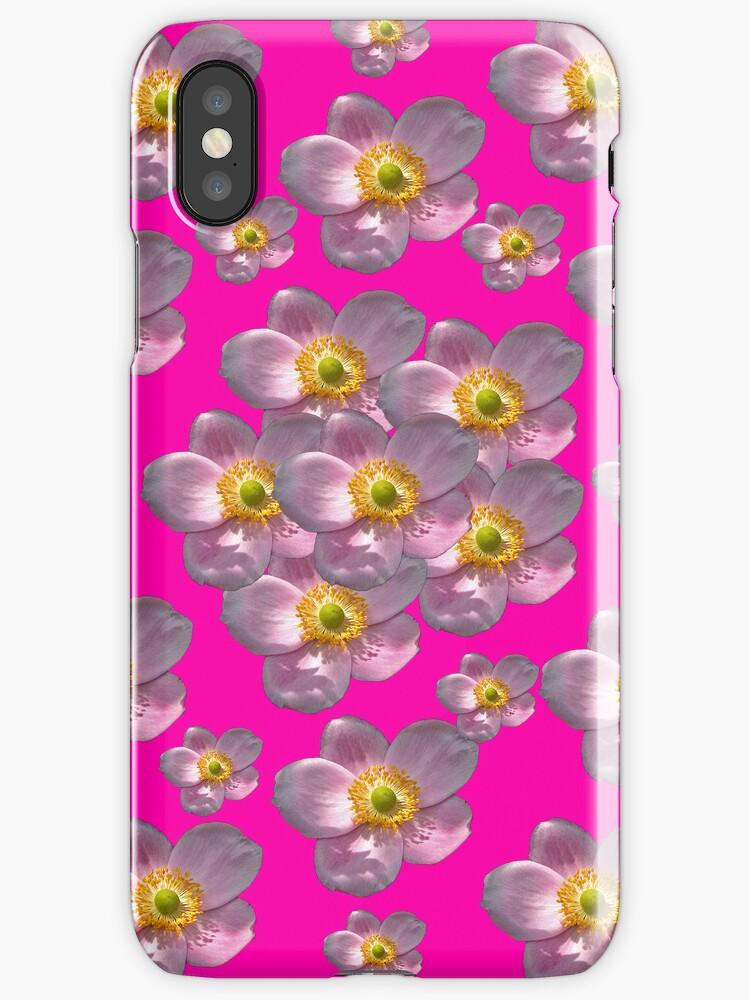 Flower Power Peony 01 iPhone Case by ManateesDesign