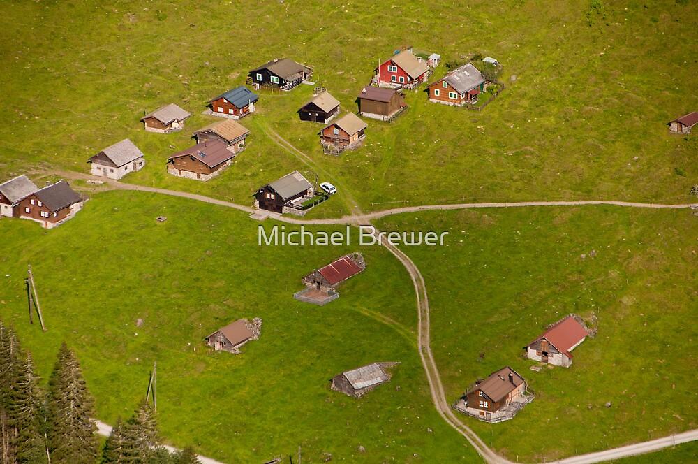 Looking down into the Maderanertal, Uri, Switzerland by Michael Brewer