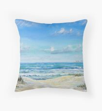 Studland beach Throw Pillow