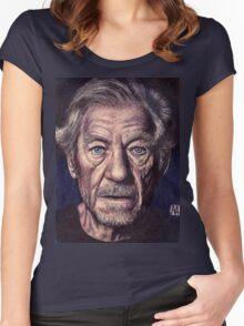 Sir Ian Mckellen Women's Fitted Scoop T-Shirt