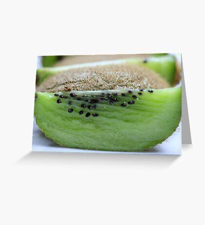 Upside Of The Kiwi Greeting Card