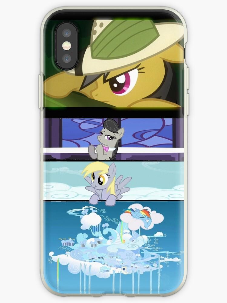 Favorite ponies iPhone Case 2.0 by DerpyDash101