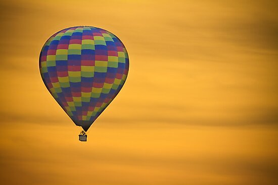 Hot Air Balloon Golden Flight by Bo Insogna