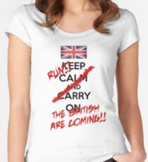 The British Are Coming! (black text) Women's Fitted Scoop T-Shirt