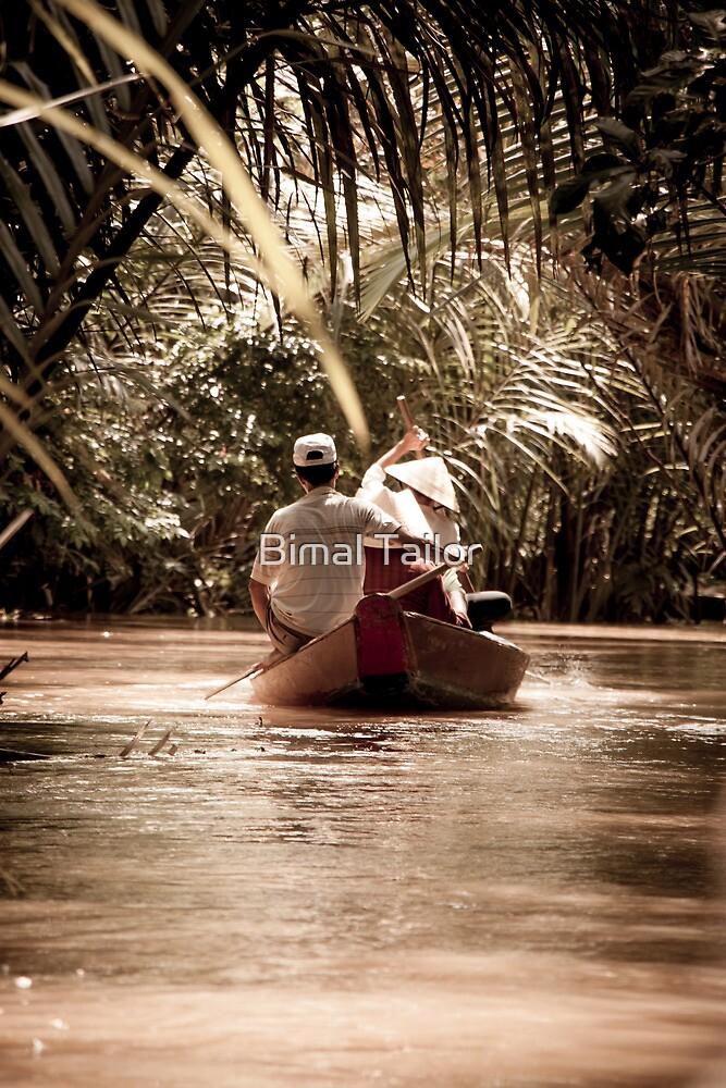 Mekong Delta narrow boat by Bimal Tailor