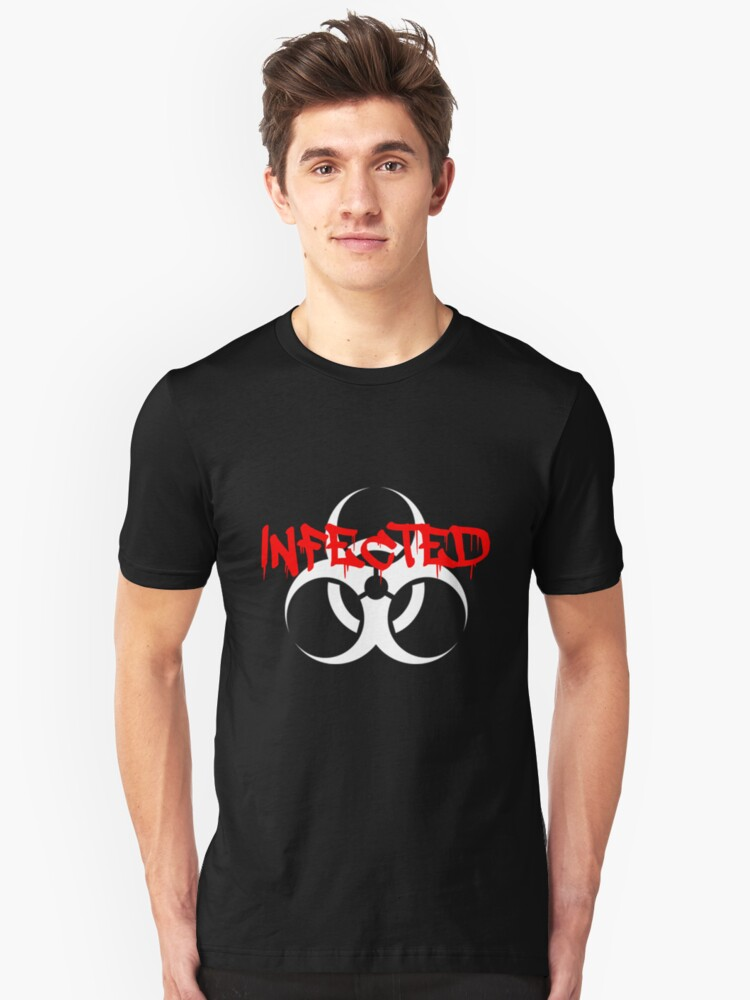 Infected Zombie Unisex T-Shirt Front