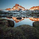Banner Peak and Thousand Island Lake, Sierra Nevada by Scott Sawyer
