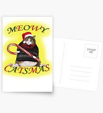 MEOWY CATSMAS Postcards