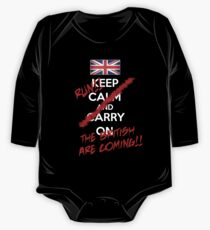 The British Are Coming! (white text) One Piece - Long Sleeve
