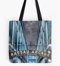 Nassau Arcade on Bay Street in Nassau, The Bahamas Tote Bag