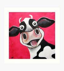 Mrs Cow Art Print