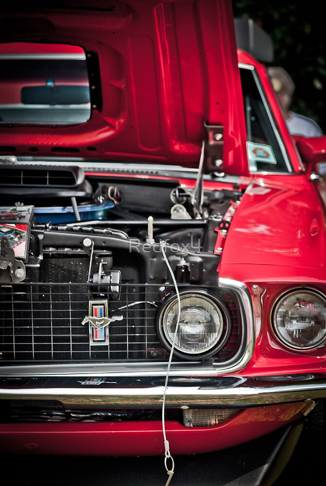 Red Mustang by Redfox4