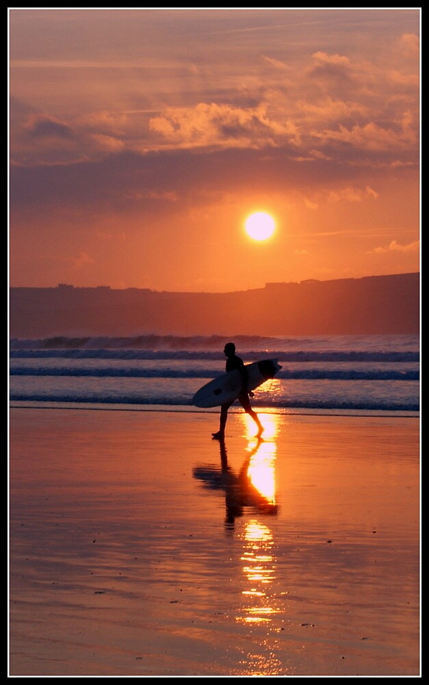Surfer at Sunset by smurfington