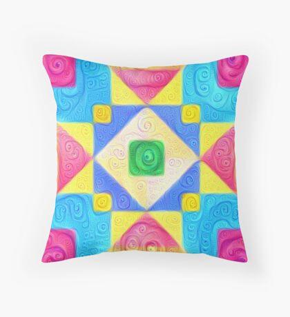 #DeepDream Color Squares Visual Areas 5x5K v1448181063 Throw Pillow