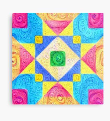 #DeepDream Color Squares Visual Areas 5x5K v1448181063 Metal Print