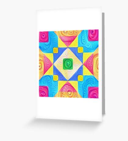 #DeepDream Color Squares Visual Areas 5x5K v1448181063 Greeting Card