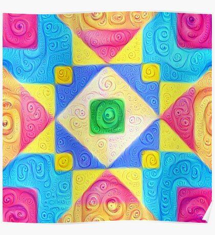 #DeepDream Color Squares Visual Areas 5x5K v1448181063 Poster