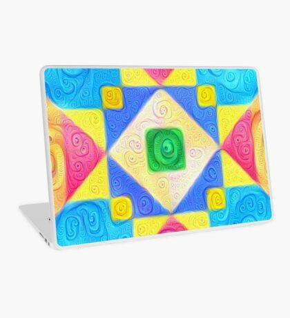 #DeepDream Color Squares Visual Areas 5x5K v1448181063 Laptop Skin