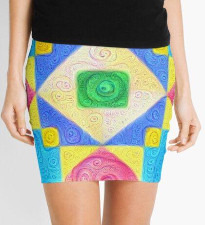 #DeepDream Color Squares Visual Areas 5x5K v1448181063 Mini Skirt