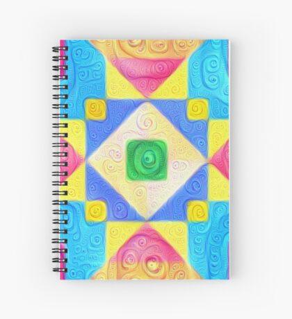 #DeepDream Color Squares Visual Areas 5x5K v1448181063 Spiral Notebook