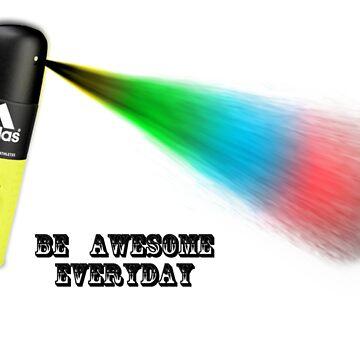 Be  Awesome Everyday - Spray Can by Kalashnikov3395