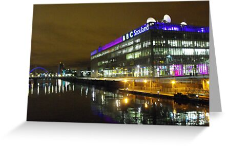 Glasgow at night, BBC Building by ElsT