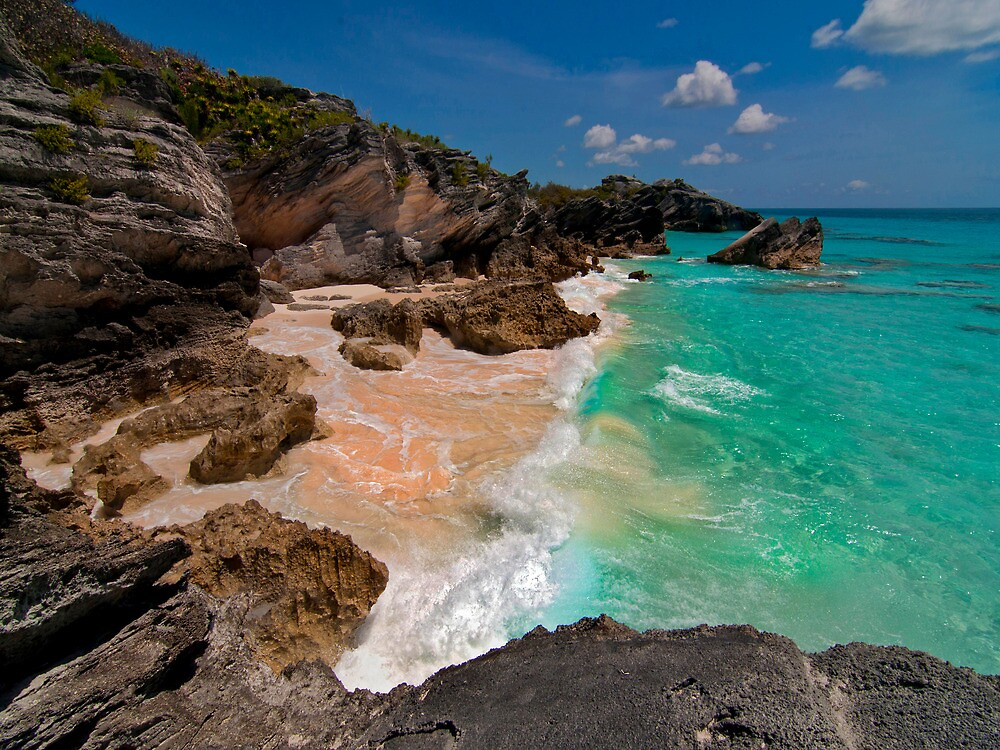 Bermuda Beach Near Horseshoe Bay by Gary & Marylee Pope