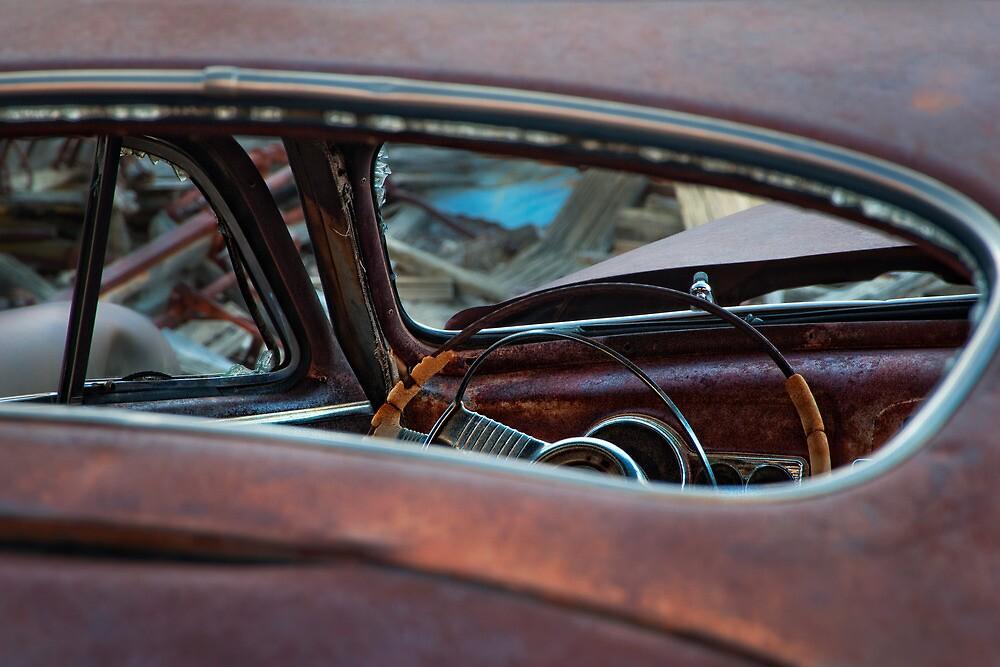 Oxidized Car, Steering Wheel by Jeannette Katzir