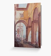Florence Arcade Greeting Card