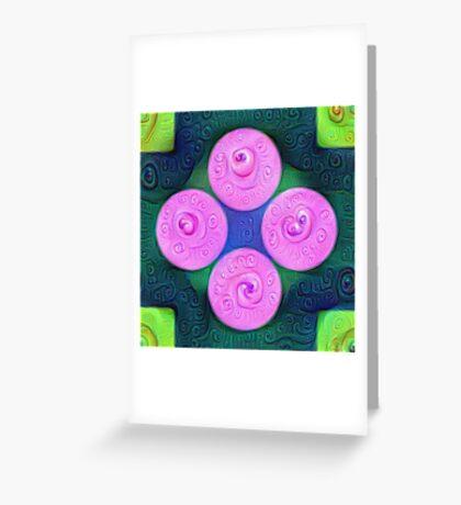 #DeepDream Color Squares Circles Visual Areas 5x5K v1448204645 Greeting Card