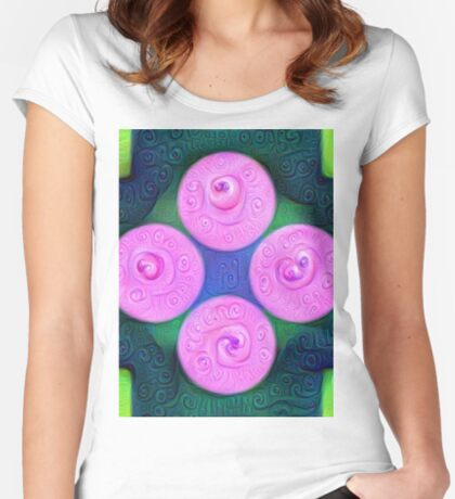 #DeepDream Color Squares Circles Visual Areas 5x5K v1448204645 Fitted Scoop T-Shirt