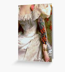 portrait of a ladies sleeve Greeting Card