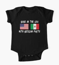 American Mexican Born In USA With Mexican Parts Kids Clothes