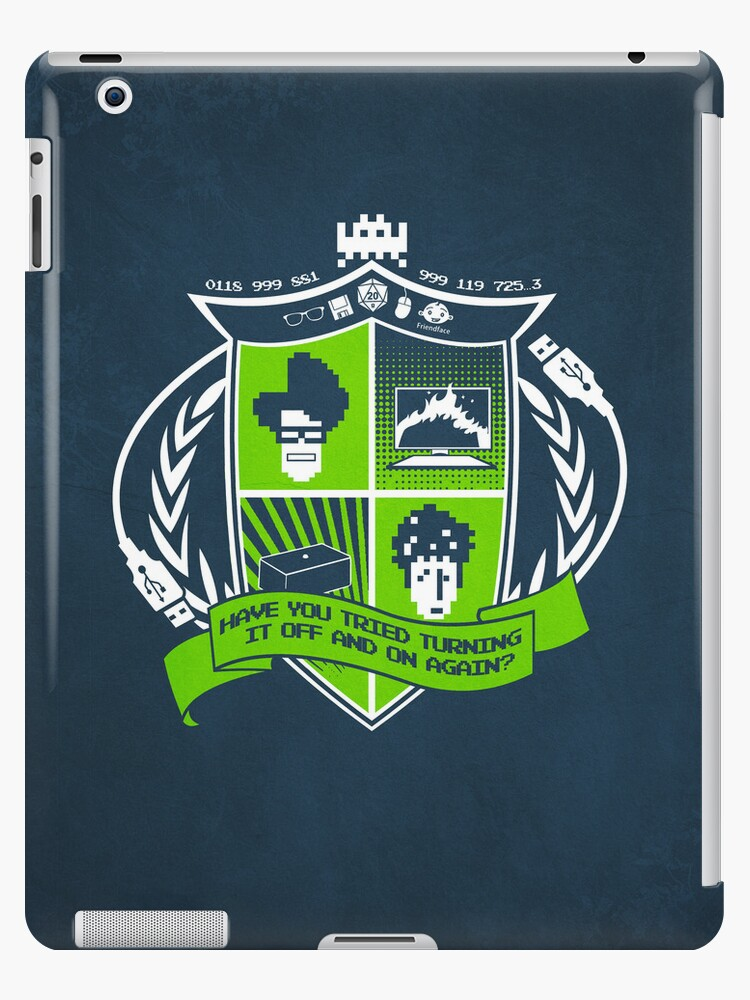The IT Crowd Crest | iPad Case by Tom Trager