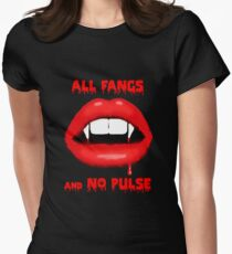All Fangs & No Pulse Women's Fitted T-Shirt