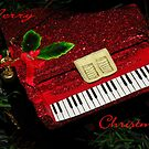 Christmas Card, Red Piano by Rosalie Scanlon