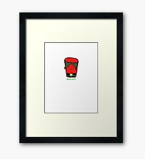 Red Han Solo Cup Framed Print