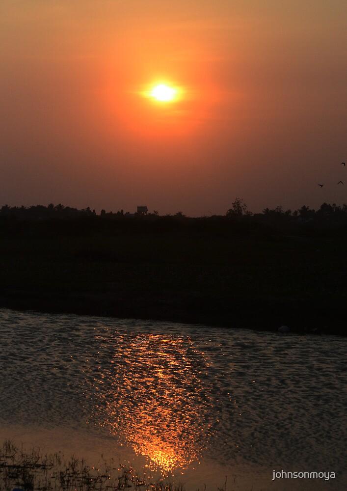 sunset and reflections  by johnsonmoya