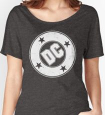DC COMICS - VINTAGE WHITE Women's Relaxed Fit T-Shirt