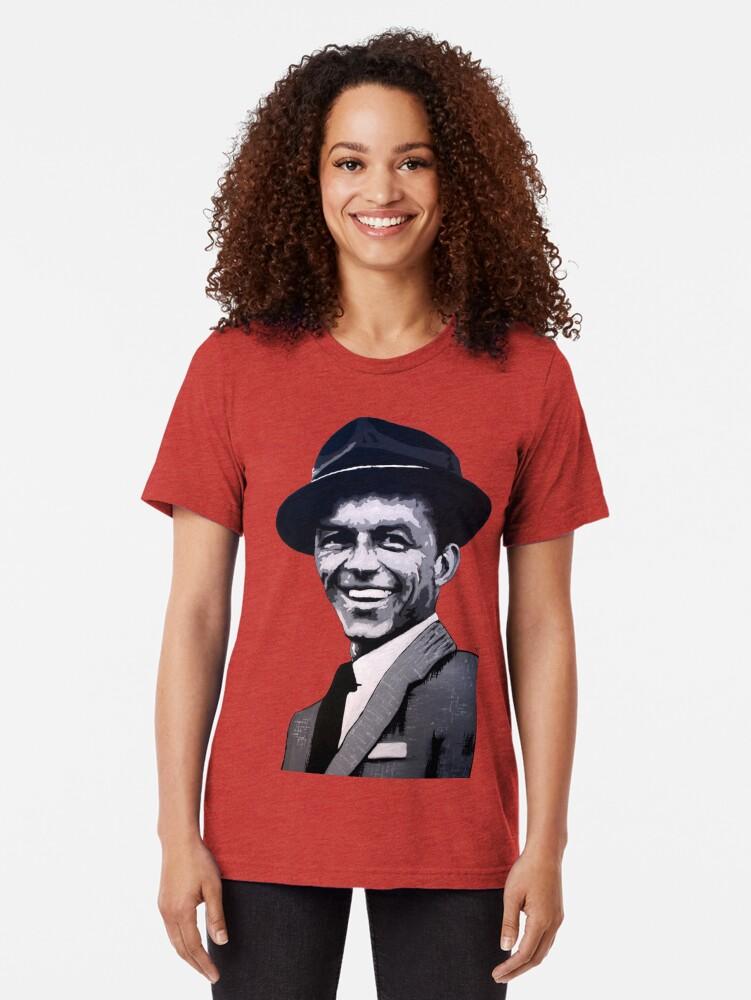 Alternate view of Frank Sinatra Tri-blend T-Shirt