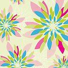 modern dahlia floral pattern 2 by Kat Massard