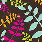 modern leaf pattern 2 by Kat Massard