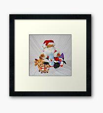 Christmas Fun for Teddy Framed Print
